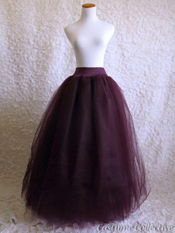 Tulle Skirts Deep Purple And Adult Tutu On Pinterest