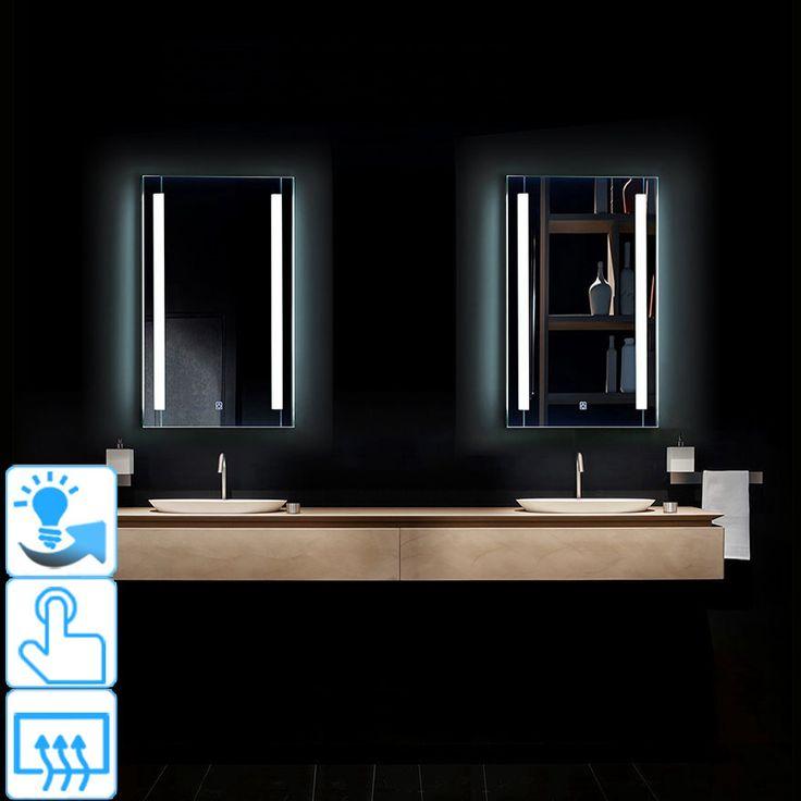 miroir salle de bain clairant led rectangulaire touche. Black Bedroom Furniture Sets. Home Design Ideas