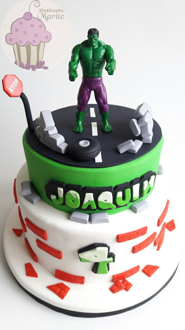 Torta de increíble hulk