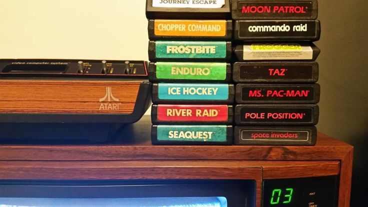 Don't miss this one by lord_tlars #atari2600 #microhobbit (o) http://ift.tt/2mAN32O would have been like $300 worth of video games in 1982... and like $14 worth in 1983.  #chanel3 #fauxwoodgrain