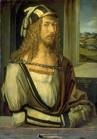 Nos encontramos ante un cuadro realizado por Albrecht Dürero, es un autoretrato.