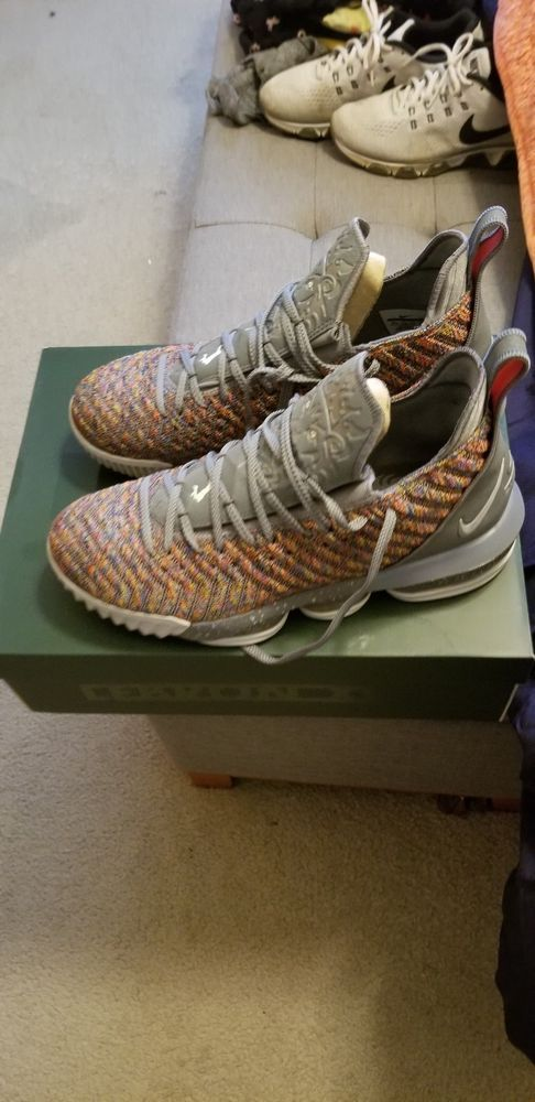 best sneakers 7af11 fd301 Lebron 16 Multi color/ cool grey/ Metallic Silver size 12.5 ...