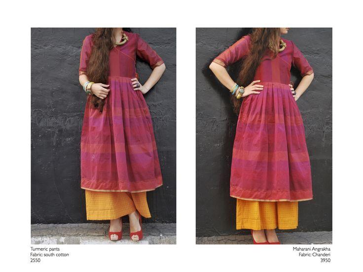 angrakha from the The maharani collection #black and white #vinatge #streetstyle #fabrics #fashion #khadi #cotton #dressup #color #batik #indigo #fusion #tradition #maharani #classic #chanderi #palazzo #checks https://www.facebook.com/itrbykhyati