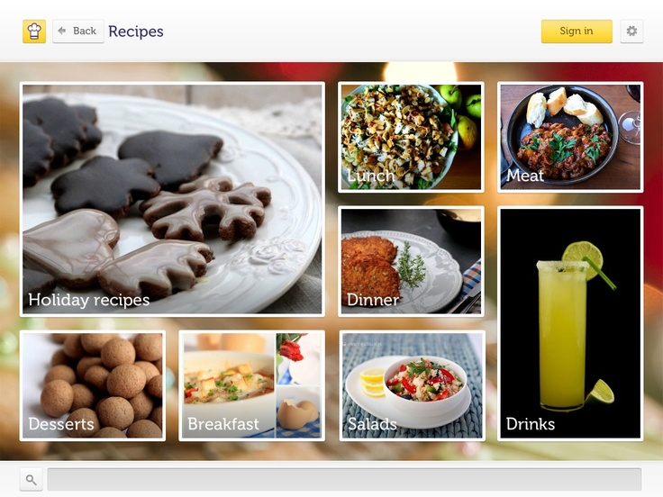 #Cooklet App, #design, #UX, #Menu