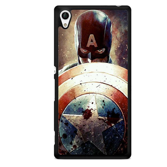 Captain America Shield TATUM-2361 Sony Phonecase Cover For Xperia Z1, Xperia Z2, Xperia Z3, Xperia Z4, Xperia Z5