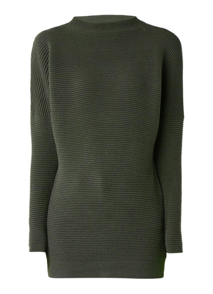 Mint Velvet Ottoman ribgebreide trui van katoen • de Bijenkorf