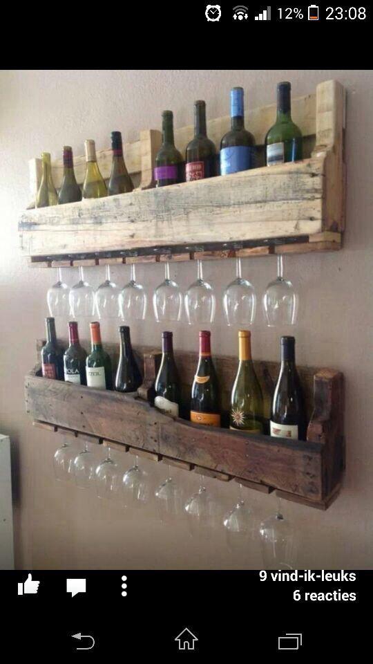 Wijnrek van pallets - www.welke.nl