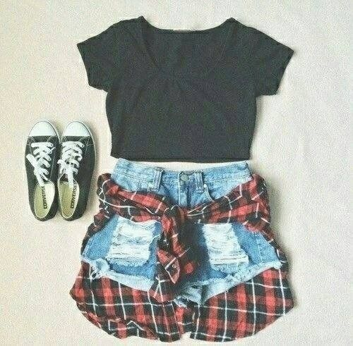cute outfits with converse and shorts tumblr - Google Search