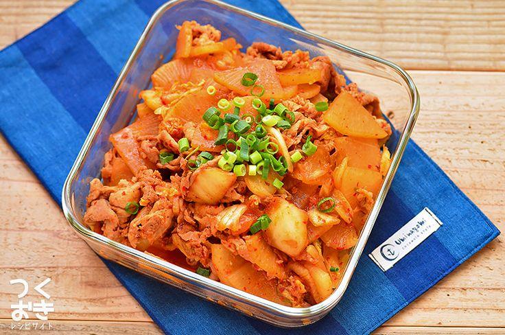 味付け簡単。豚肉と大根のキムチ炒め | 作り置き・常備菜レシピサイト『つくおき』