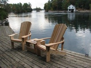 Muskoka Chairs with Side Table / Foot Rest