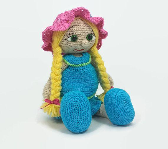 Crochet doll amigurumi doll crocheted doll toy handmade