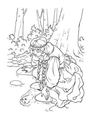 205 Best Line Art Images On Pinterest Realistic Princess Coloring Pages Printable