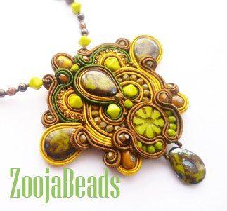 SOUTACHE KIT Soutache Embroidery Soutache  Medal Soutache Neklace Handmade soutache neklace Designer soutache Neklace with beads, crystals