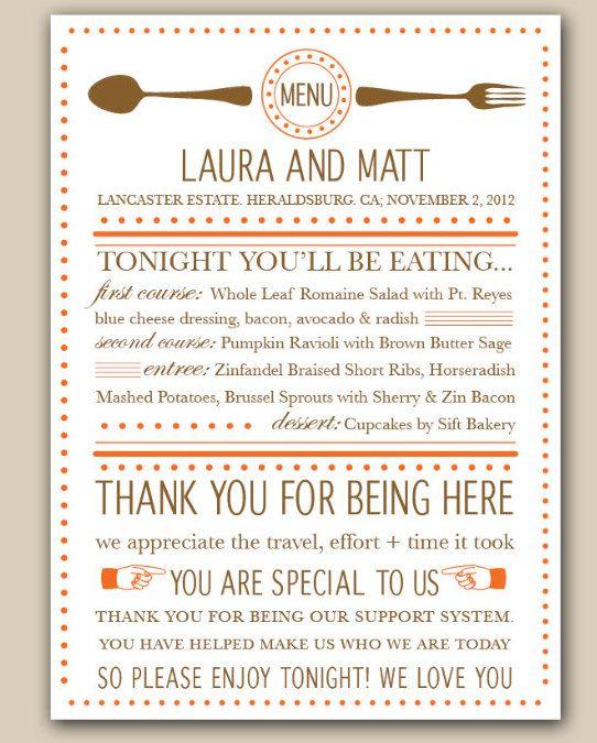 21 best Menu Designs images on Pinterest Wedding menu, Weddings - dinner menu