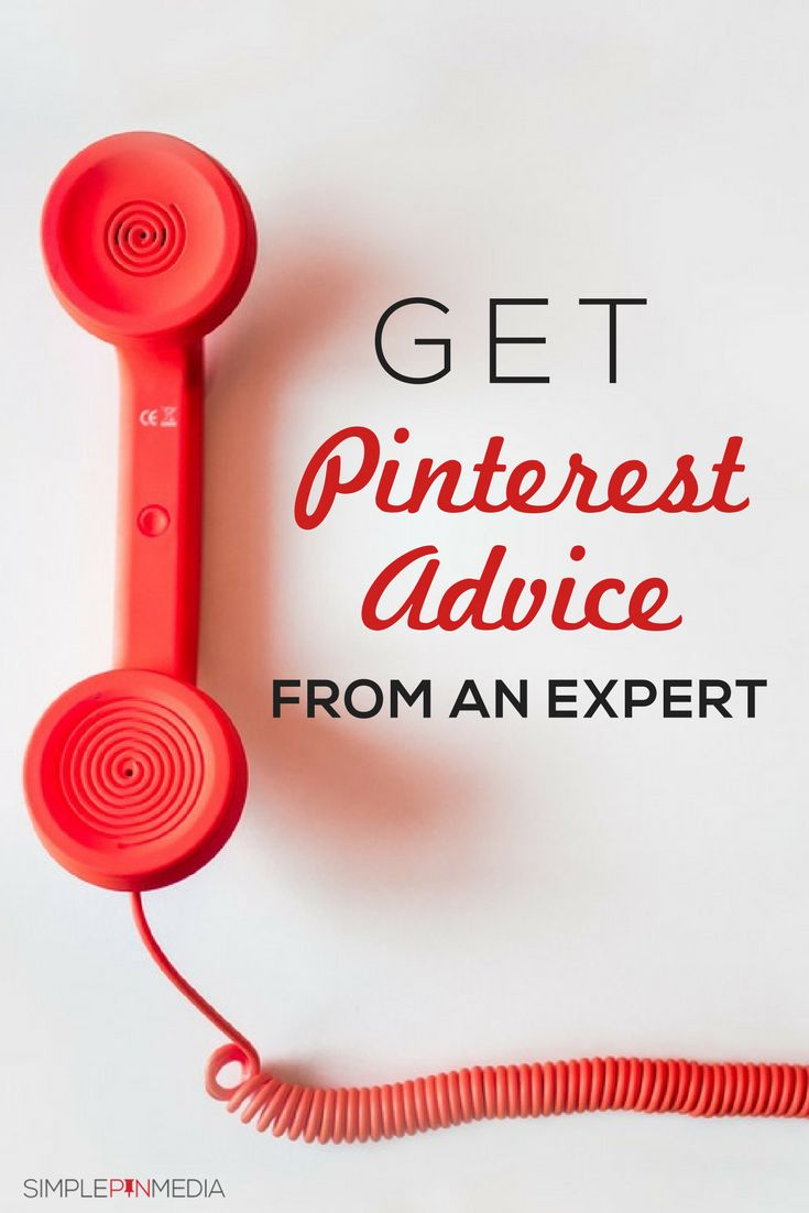 Get advice from an expert with a Simple Pin Pinterest Consult Call