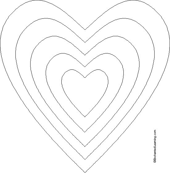 Lollipop Valentine card Template Printout - EnchantedLearning.com