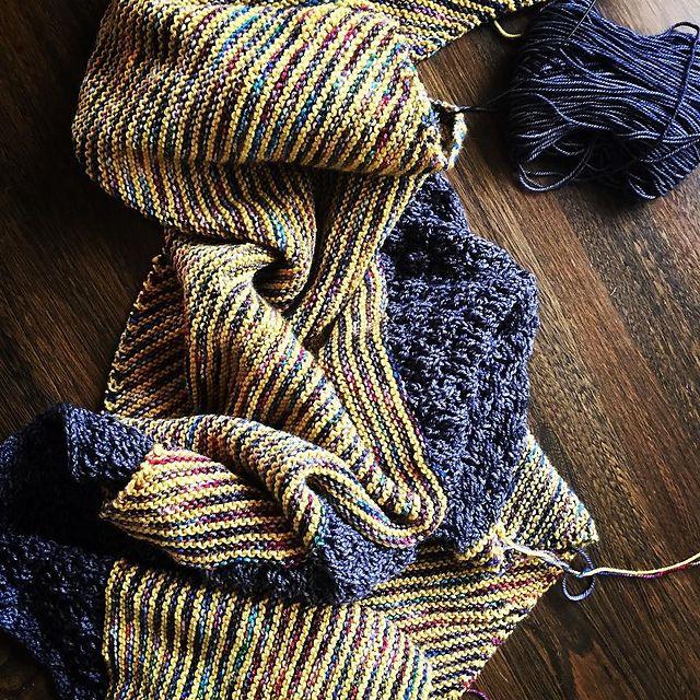 Ravelry fromthebasket's xanthe wrap. Black Cat Custom