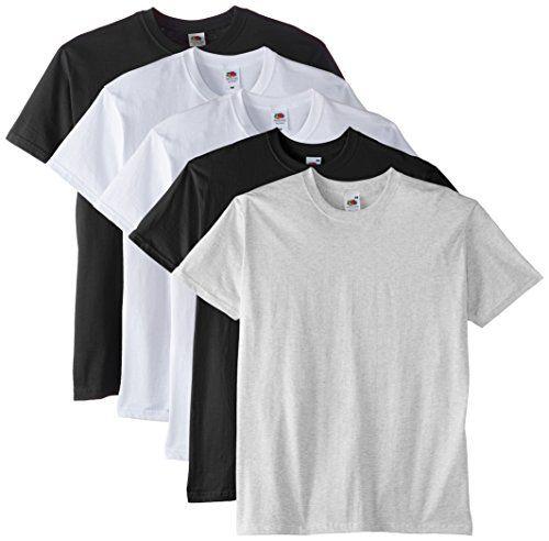 Fruit of the Loom Mens Premium 5 Pack Regular Fit Round Collar Short Sleeve T-Shirt, Multicoloured (White/White/Black/ No description (Barcode EAN = 5060401106843). http://www.comparestoreprices.co.uk/december-2016-5/fruit-of-the-loom-mens-premium-5-pack-regular-fit-round-collar-short-sleeve-t-shirt-multicoloured-white-white-black-.asp