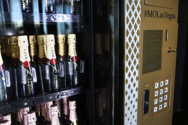 Champagne vending machine at Mandarin Oriental