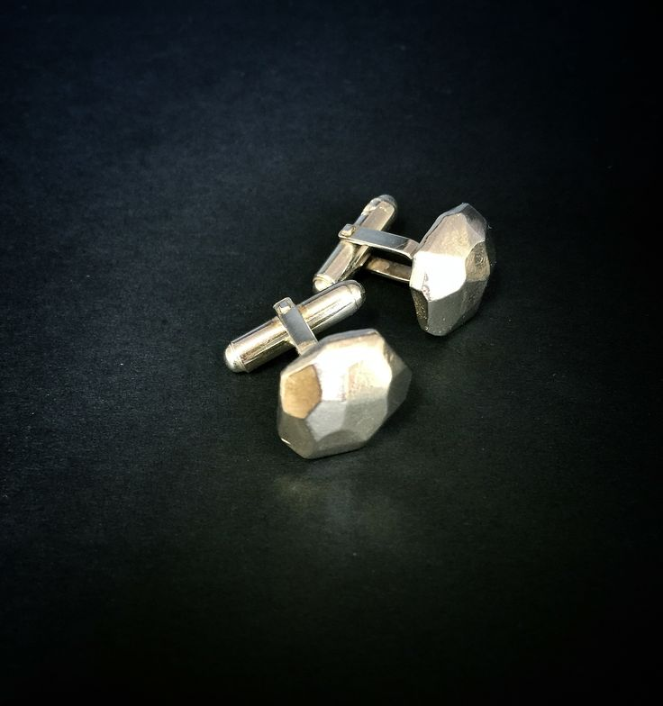 Angle cufflinks- Sterling silver