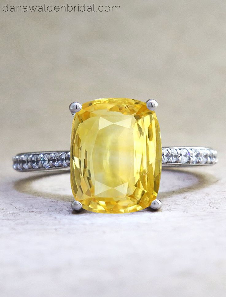 valentina lab created yellow sapphire engagement ring. Black Bedroom Furniture Sets. Home Design Ideas