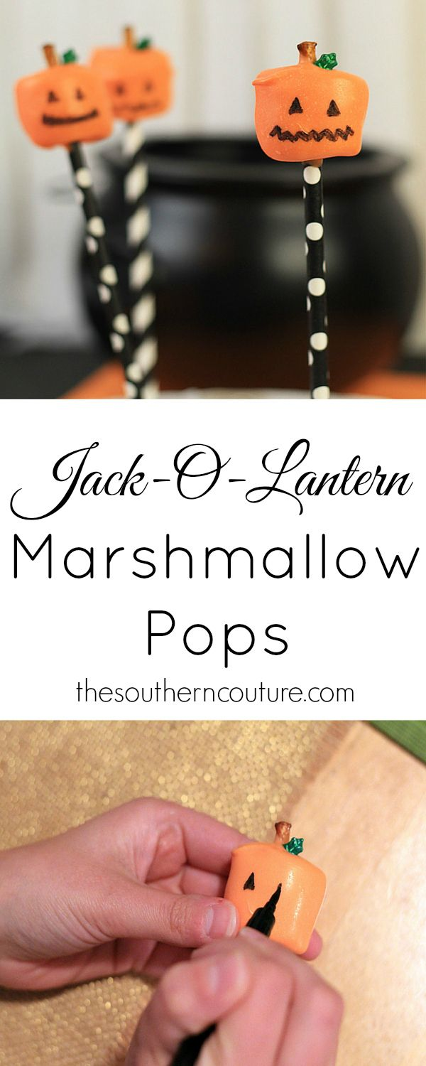 Your kids will love getting in the kitchen to help you decorate these pumpkin marshmallow pops that are perfect for Halloween or Thanksgiving. Get the full recipe now!