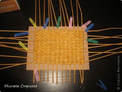 Мастер-класс Поделка изделие 8 марта Новый год Плетение МК-прямоугольное дно и не только  Бумага газетная Бумажные полосы Клей фото 8