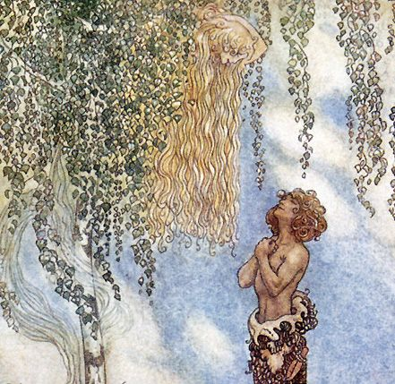 """""""He found her, hiding in a tree"""" John Bauer (1882 - 1918)"""