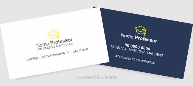 Cartão de visita professor particular grátis para download