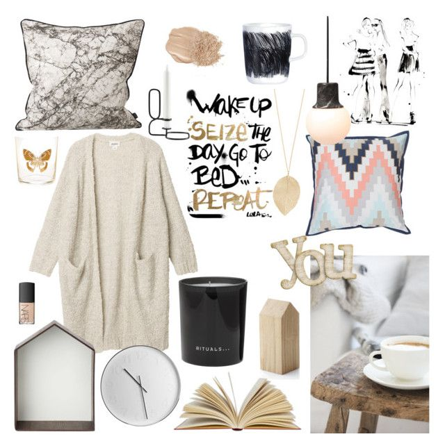 COZY FALL! by junesdagbokpoly on Polyvore featuring Monki, NARS Cosmetics, ferm LIVING, Yoco Nagamiya, Rituals, applicata, Marimekko, &Tradition, Zara Home and HAY