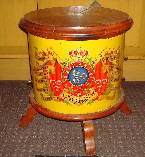12th Sudanese Regimental Drum. London Maker  Famous for there participation in the Battle of Omdurman
