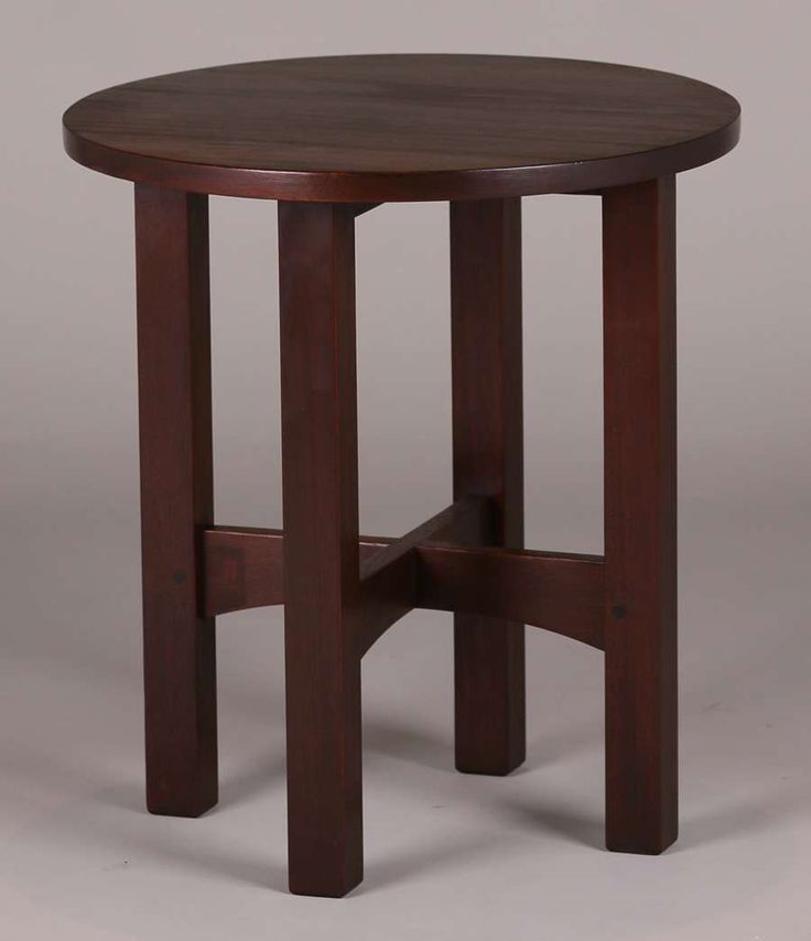 Gustav Stickley #602 mahogany taboret.  Signed with red decal.