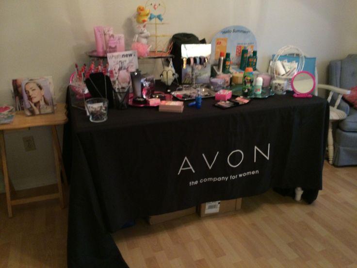 Avon home party display ideas