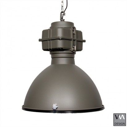 Industriele Lamp Mat Grijs RAL 7039  VM-Design    Maat: 52x52xH65cm    Verkrijgbaar in verschillende kleuren!