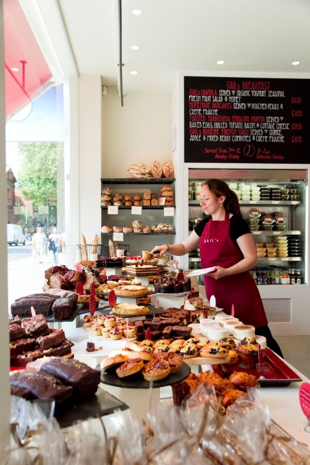 GAIL'S Artisan Bakery, several locations across London, all are fab spots for lattes and a quick, delicious lunch, take away desserts and TDF fresh baked breads.