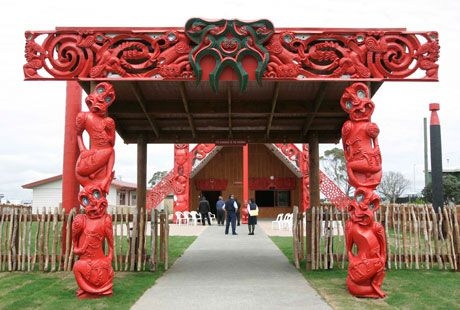Waharoa or entry to our marae