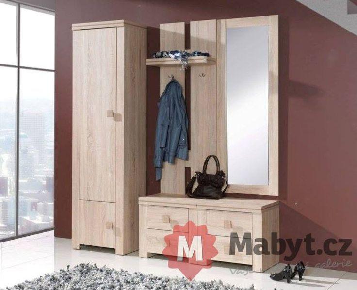 Světlá předsíňová sestava Evita 1 se zrcadlem http://www.mabyt.cz/32523-nabytek-do-predsine-evita-1.htm