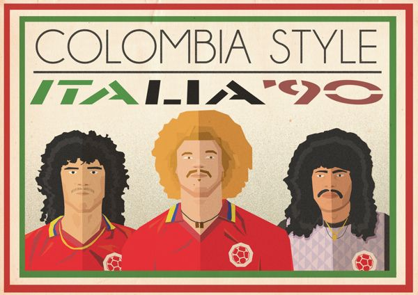 Great pictures of the 1990 World Cup Colombian all hair team.