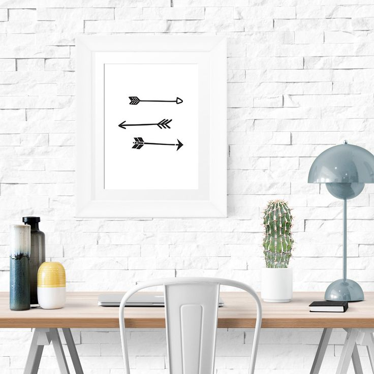 New to HandmadePrintables on Etsy: Find your way - Arrow Illustration Poster - A3 Wall Art Home Decor (3.80 GBP)