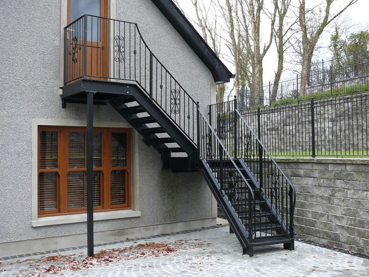 external fire escape stairs - Google Search