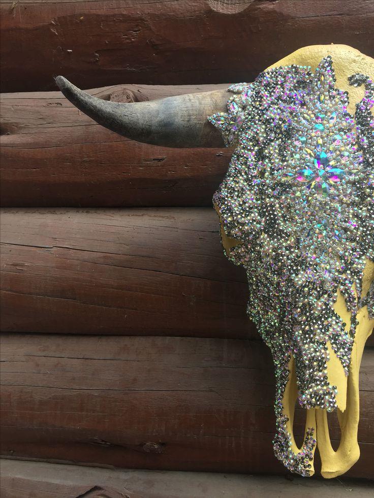 Download Rhinestone cow skull | Cow skull