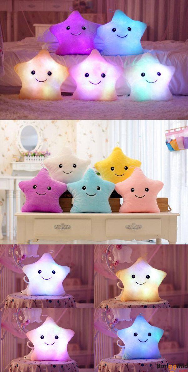 US$11.99+ Free Shipping. LED Light Star Shape Throw Pillow . 5 colors available. Buy at banggood :))