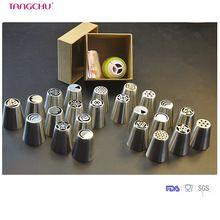 Aço Inoxidável quente vender 29 PÇS/SET Tamanho Grande Conjunto de Confeiteiro Seringa DIY Bico de Engate 5 Sacos de Pastelaria 1 Decoração Acopladores e anel(China (Mainland))