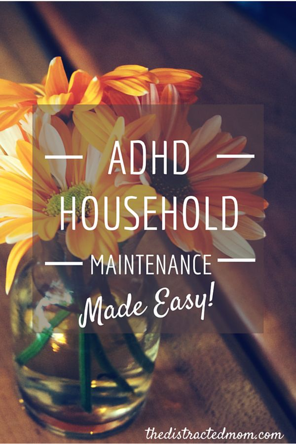 Cleaning up around the house when you have ADHD
