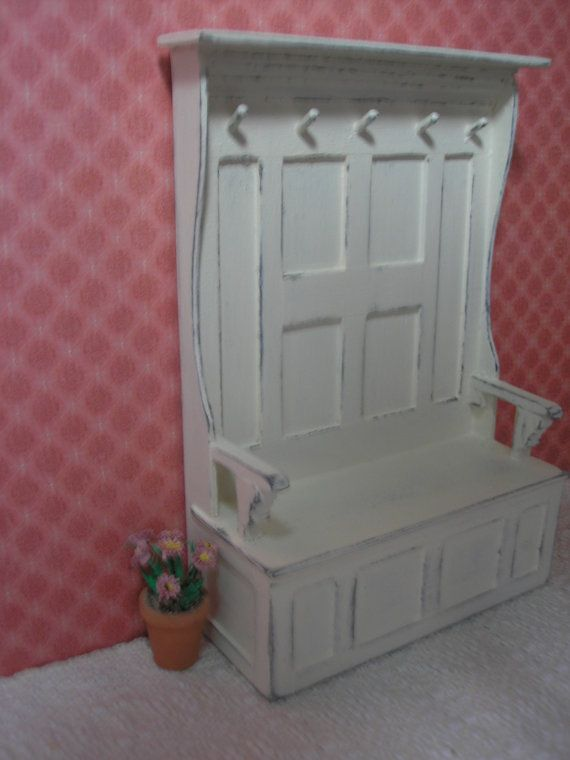 Idea For Front Hall Bench With For My Foyer (perhaps With Inset Cloth On The Backing) Source