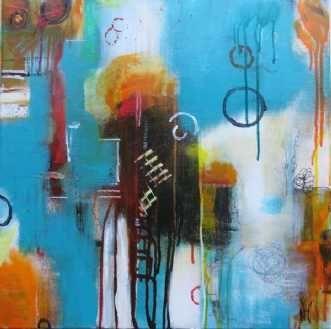 Kunstsamlingen   Artist: Nina Hansen   Title: 'No name'   Height: 60cm,  Width: 60cm   Find it at kunstsamlingen.dk