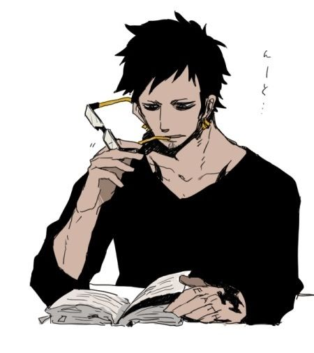 Trafalgar Law - How to look hot while reading. Only him can pull that off.