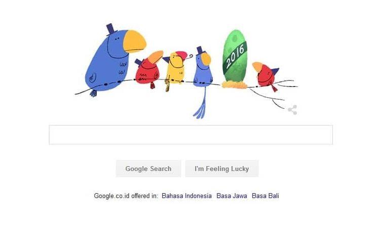 Google Doodle Hari Ini Ucapkan 'Selamat Tahun Baru 2016' - http://www.rancahpost.co.id/20151248500/google-doodle-hari-ini-ucapkan-selamat-tahun-baru-2016/