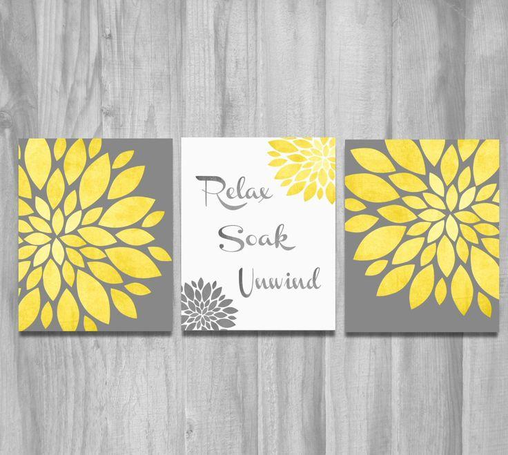 Bathroom Art Grey: 11 Best Yellow & Gray Bathroom Ideas Images On Pinterest