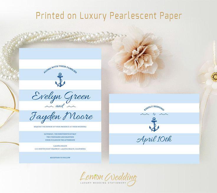 2566 best Nautical Wedding Invitations images on Pinterest ...